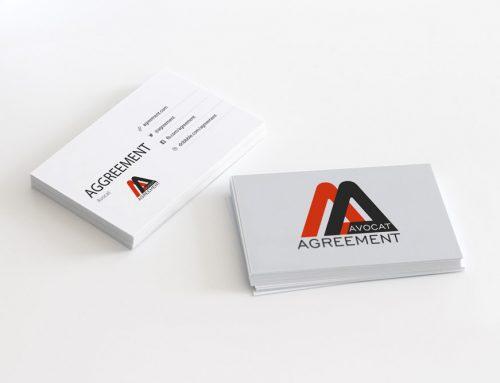 Identité visuelle-logo pour Agreement Avocat