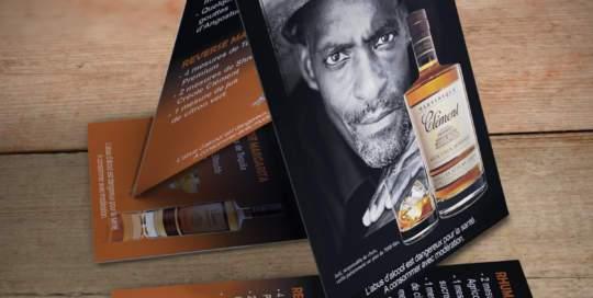 publicité de table Rhums Clément
