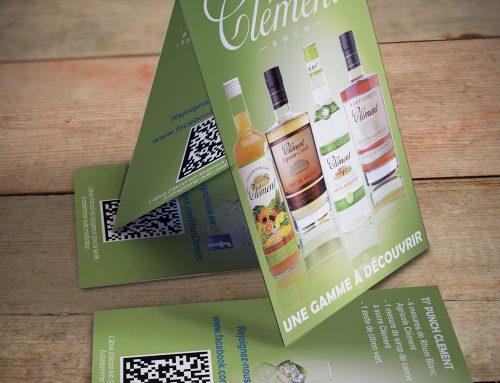 Publicité de table Rhums blancs Clément