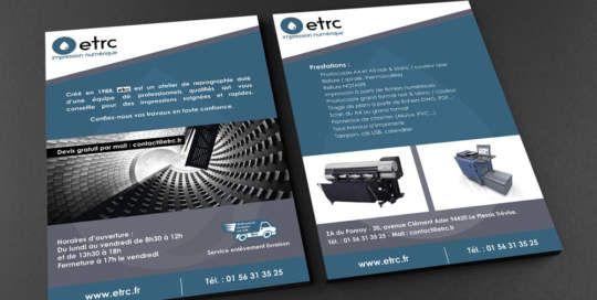 logo et flyer-etrc-graphiste 94-stephanie-sec