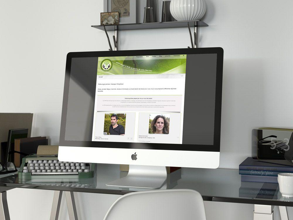 Création de site internet à Saint-Maur (94) -reflexologie